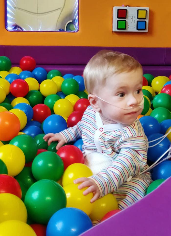 Playtime for Jake O'Donovan at Temple Street Children's Hospital