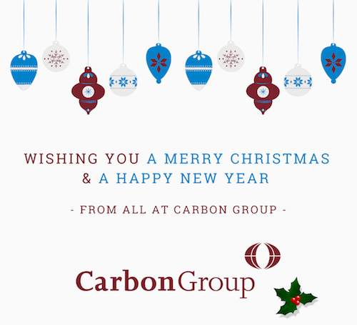 Merry Christmas graphic - Merry Christmas and a Happy New Year from all at Carbon Group