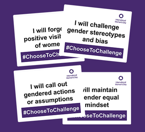 Image to promote International Women's Day - 'Challenge to Change'