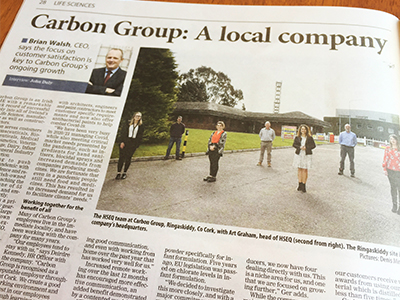 Carbon Group Features in Irish Examiner & Irish Times