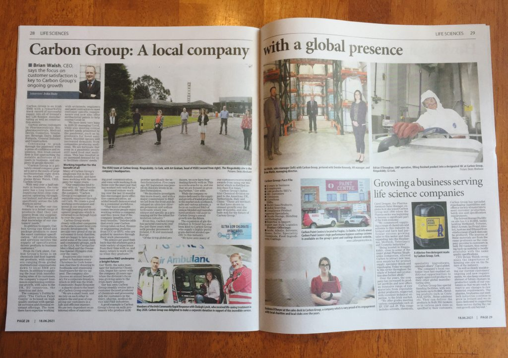 Carbon Group in the Irish Examiner